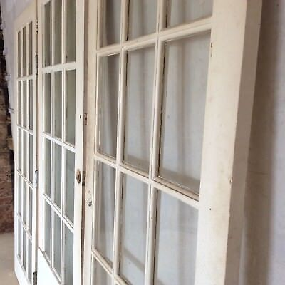 3 Old Doors from Victorian House Wooden Glass Reclaimed Pick up East Sussex TN38