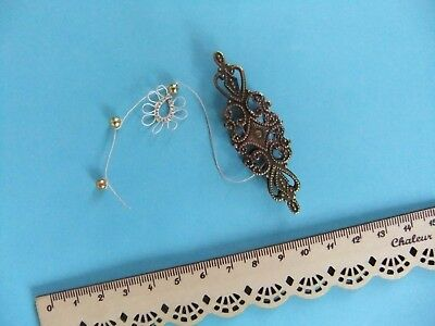 RARE Antique? Ornate Tatting Shuttle Frivolite Fine Bronze For Making Lace RARE