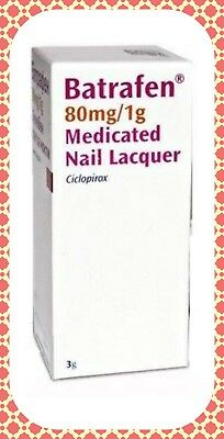 SANOFI BATRAFEN MEDICATED NAIL LACQUER/NAIL FUNGAL INFECTIONS TREATMENT, 3g