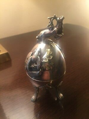 Antique Imperial 1896 Russian Egg Wild Boar/Stag Hunters Theme 19TH Century