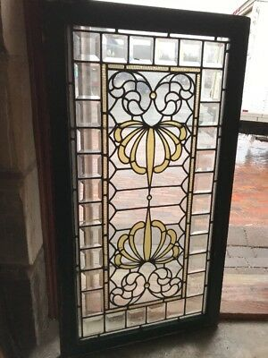 Sg 2To12 Antique Mirror Image Transom Window 24.5 X 44.5