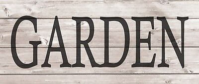 GARDEN Metal Sign Wood Look Rustic Wall Decor Retro Man cave 5x12 SS55