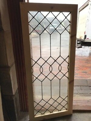 SG 2215 antique leaded glass window horizontal or vertical 20 x 47.25