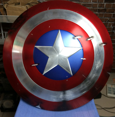 CATTOYS 1/1 Captain America Shield Prop Damaged veteran limit Version FULL METAL