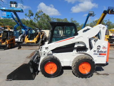 "2014 Bobcat S-770 Turbo 2 Speed 92 Hp ""high Flow"" Power Bob Tach - Enclosed A/c"