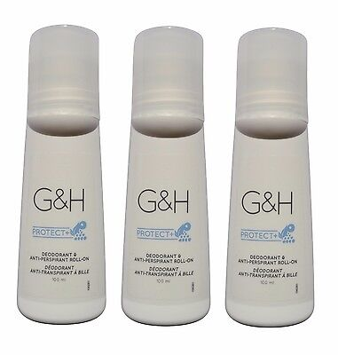 AMWAY 3x G&H PROTECT+ Deo und Anti-Perspirant Antitranspirant Roll-On Deodorant
