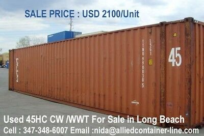 Conex Container Long Beach 45 Ft Hc Cw Available To Pickup Today ,Only 2100
