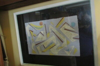 """William H. Littlefield 1952 Abstract  Cloth & Paper Sculpture?  """"Yachting Party"""""""