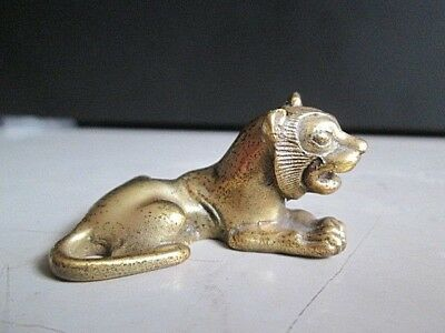 Metropolitan Museum of Art Brass Egyptian King Tut Lioness 1990 MMA