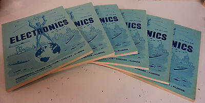6 VTG COMMERCIAL TRADES INSTITUTE Electronics Lesson Books C TELEVISION ANTENNAS