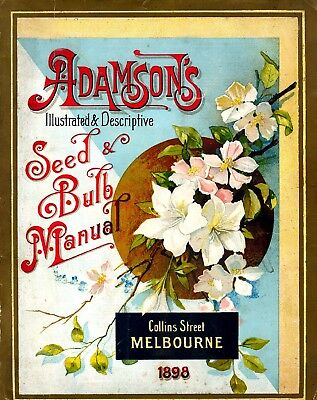 Adamson Collection Vintage Fruits Seed Packet Catalogue Advertisement Poster