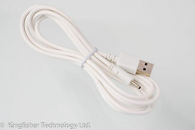 2m USB 5V 2A White Charger Power Cable Adaptor for Carrefour CT1005 Tablet