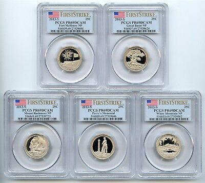 2013 S Clad Quarter Proof Set PCGS PR69 DCAM First Strike National Parks ATB