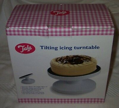 "TALA 10"" Non Slip Tilting Icing Turntable - Cake Stand"