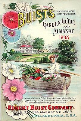 Buist Collection Vintage Fruit Seeds Packet Catalogue Advertisement Poster 1
