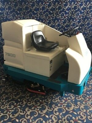"""Tennant 7300 40"""" ride on floor sweeper scrubber with low hours & FREE shipping"""