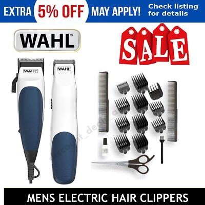 WAHL Haircut Hair Clippers Mens Beard Grooming Trimmer Kit Homecut Combo 19Pc