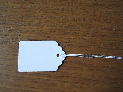 100 String  White Blank Price Tags 1 13/16 x1 3/16 in.