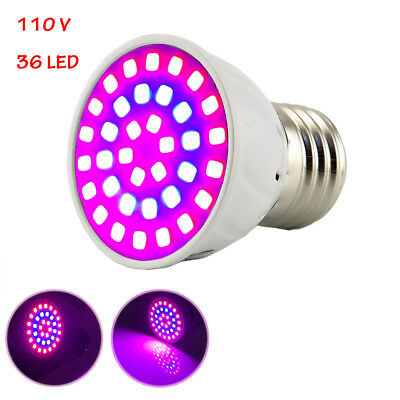 36 LED Plant Grow Light E27 Lamps for Plants Flower Vegs Seed Greenhouse Hydro
