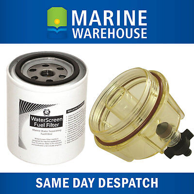 Fuel Filter Kit W/ Clear Bowl & Water Trap - Mercury Yamaha Outboard 203293UE