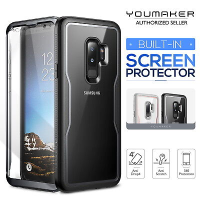 YOUMAKER Samsung Galaxy S9 S9 Plus Crystal Clear Shockproof Full-body Case Cover