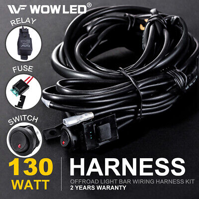 Wiring Harness Switch Kit for Control 2 LED Driving Work Light Bar Car Truck 4WD