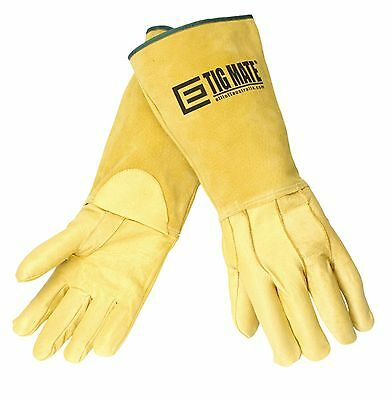 Lge TIGMATE Large Tig welders Gloves,Top Quality Leather TIG gloves Pigskin 1Pr