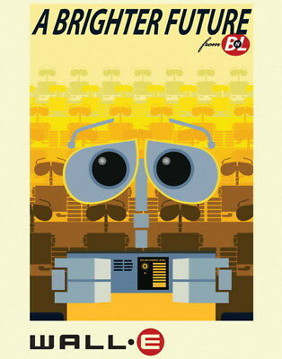 "039 WALL E - Pixar Eve Space Adventure Cartoon Movie 14""x17"" Poster"