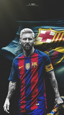 "233 Lionel Messi - Barcelona Football Soccer Top Player 14""x24"" Poster"
