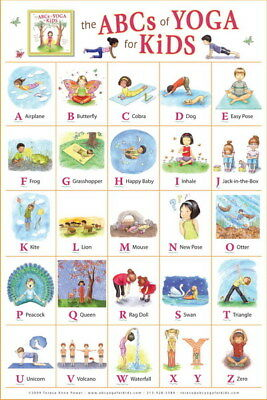 """005 Yoga - The ABCs of Yoga for Kids 14""""x21"""" Poster"""
