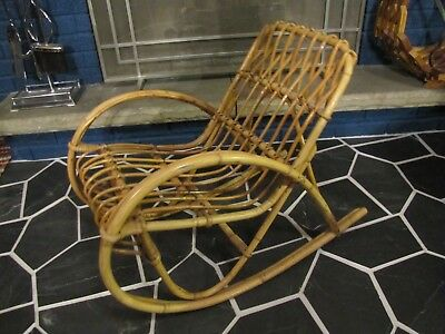 Awesome Childrens Mid Century Rocking Chair Rattan Wicker Mcm Kids Gmtry Best Dining Table And Chair Ideas Images Gmtryco