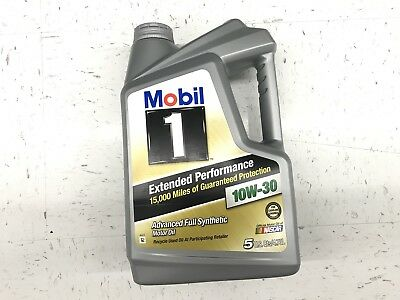 Mobil 1 Extended Performance 10W-30 Full Synthetic Motor Oil 5 Quarts Jug
