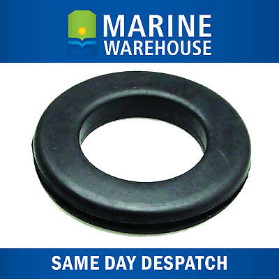 Trim Ring Black Rubber Round W/ Open Back - Suitable for Running Cables 402084