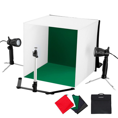 CRAPHY 16x16 inch/ 42x42cm Mini Portable LED Photo Studio Light Cube Tent Kit Ta