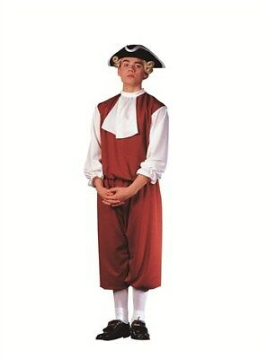 Colonial Man Teen Costume-Teens Male (16 to 18)-Brown and White by RG Costumes