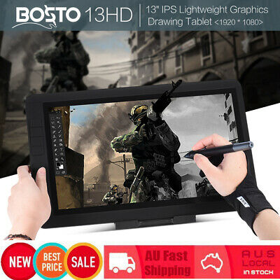 "BOSTO 13"" IPS 1920*1080 13HD Pen Art Drawing Graphics Display Tablet Board+Gift"