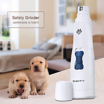 SAVFY Electric Pets Nail Grinder Paws Grooming Trimmer Dog Cat Clipper Tool