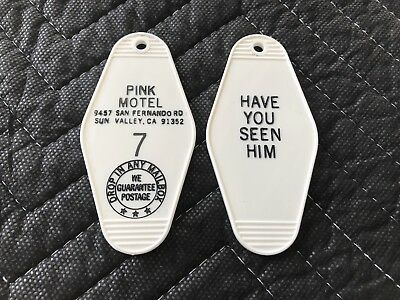2x Animal Chin Pink Motel Key Fob Old School Skateboard Key Chain Powell Peralta