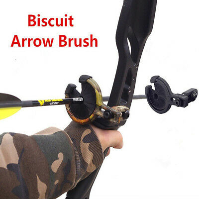 Black Archery Drop Away Biscuit Arrow Rest Left Right Hand Brush Whisker Bow
