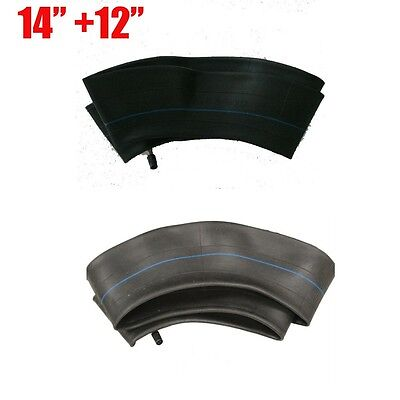 """2 Pcs Inner Tube 60/100-14"""" Front + 80/100-12"""" Rear For 14"""" & 12"""" inch Tyres"""
