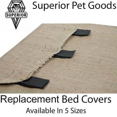 Superior Pet Goods Hessian Replacement Dog Bed Cover in XS,S,M,L & Jumbo