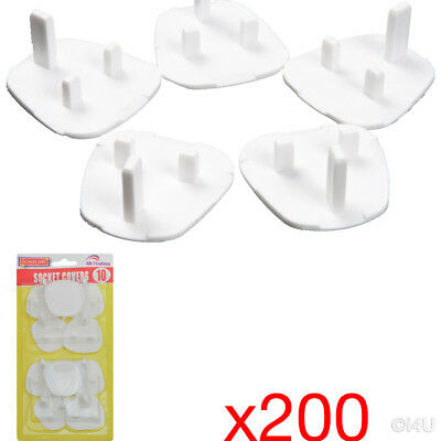20 X 10Pc (200) Plug Socket Cover Electrical Safety Protector Covers Child Baby