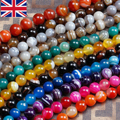 Wholesale Lot Natural Gemstone Round Spacer Loose Beads 4mm 6mm 8mm 10mm 12mm UK