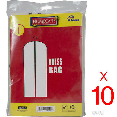 10 X Dress Bags Hanging Wedding Bridal Prom Garment Gown Cover Suit Protector