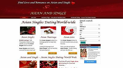 For Sale: www.AsianandSingle.com - An Asian Dating Website operating Globally