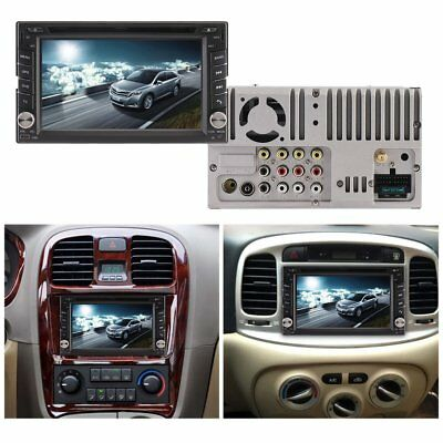 "6.2"" Double 2 Din Car DVD Player Radio Stereo GPS SAT NAV MP3 AUX USB Bluetooth"
