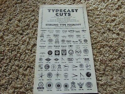 Vintage Type Cast Cuts Logo Catalog 1959