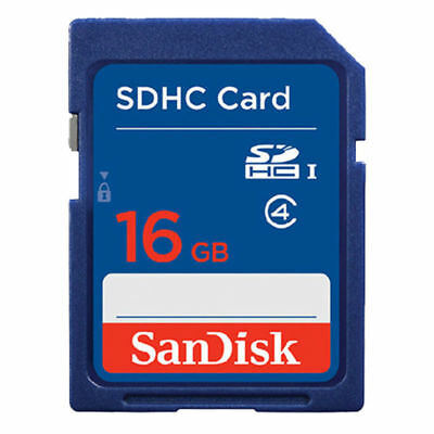 SanDisk 16GB SD Card SDXC SDHC MEMORY CARD Class 4 16 GB For Digital Cameras