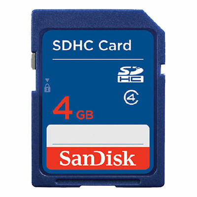 SanDisk 4GB SD Card SDXC SDHC MEMORY CARD Class 4 4 GB For Digital Cameras Blue