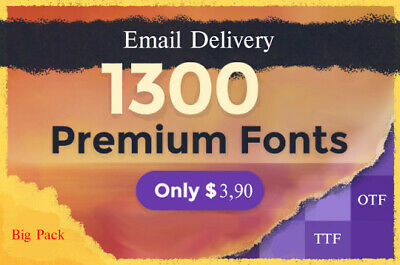 ~ 1300 Premium Font [TTF, OTF] (Email Delivery)